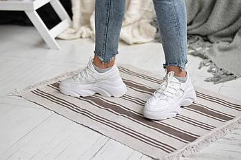 Кожаные белые кроссовки Abbi