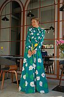 Длинное женское платье рубашка