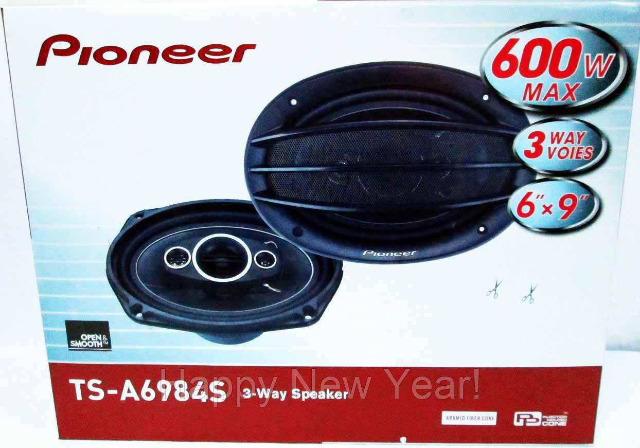 Автомобильные колонки Pioneer TS-A6984S (600W) трехполосные