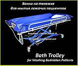 Ванна на тележке для мытья лежачих пациентов - Bath Trolley WLE-140P Electro for washing bedridden patients, фото 2