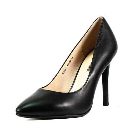 Туфли женские Fabio Monelli S334-70-Y021AK черная кожа (37), фото 2