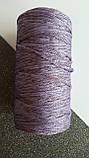 Шнур поліефірний без сердечника 5мм #45 ніжно фіолетовий+пастельно фіолетовий, фото 2
