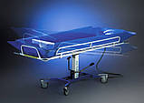 Ванна на тележке для мытья лежачих пациентов - Bath Trolley WLE-140P Electro for washing bedridden patients, фото 4
