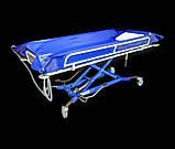 Ванна на тележке для мытья лежачих пациентов - Bath Trolley WLE-140P Electro for washing bedridden patients, фото 8