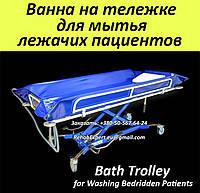 Ванна на тележке для мытья лежачих пациентов - Bath Trolley WLE-140P Electro for washing bedridden patients, фото 1