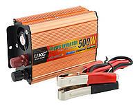 Преобразователь напряжения инвертор UKC SSK 500W 12V-220V Gold
