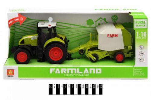 """Трактор с прицепом """"FARMLAND"""", музыкальный  scs"""