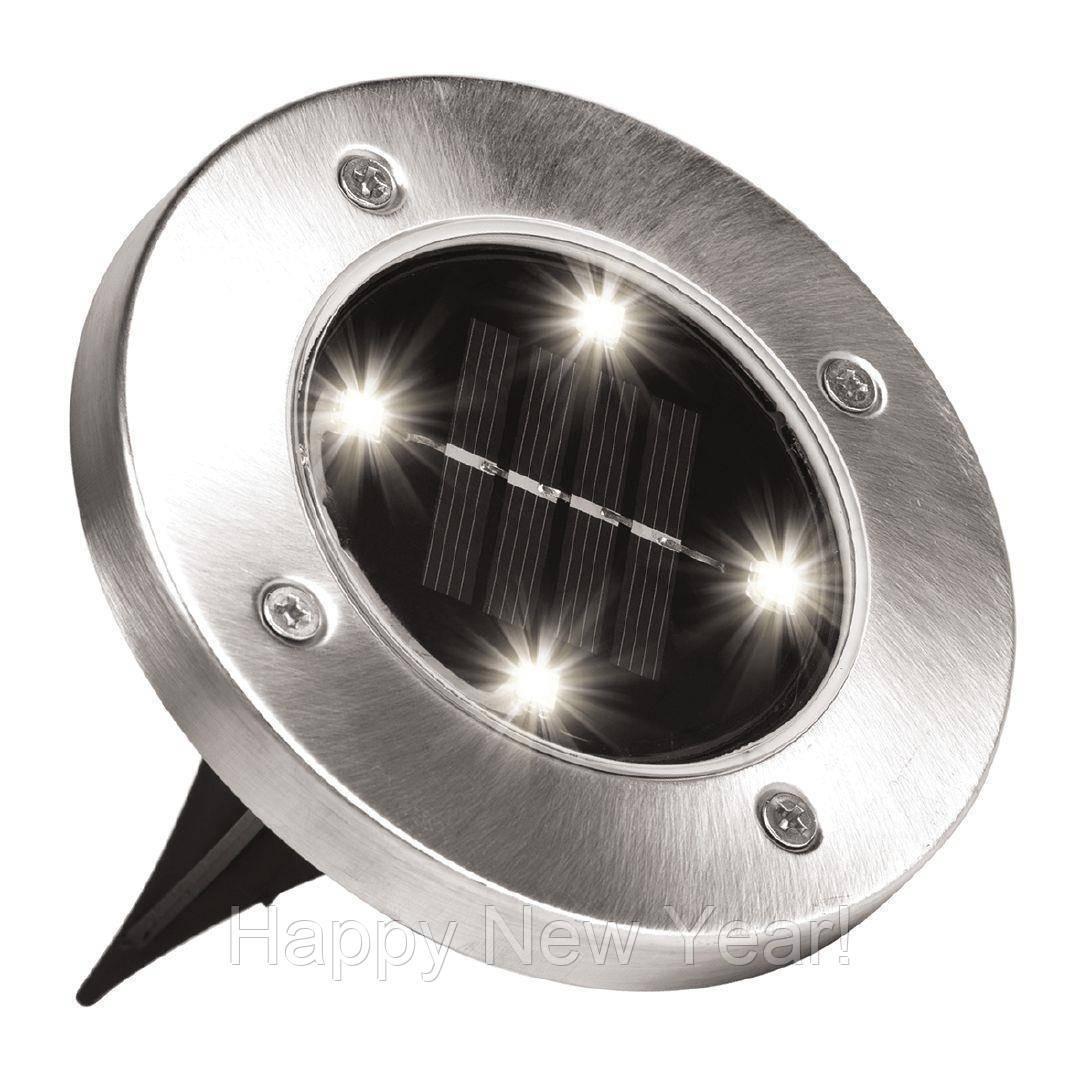 Уличный светильник на солнечной батарее Solar Disk Lights 5050 4 Led 5W