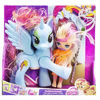 "Набор ""Dream Horse: лошадка и кукла-пони"" (голубой)  sco"