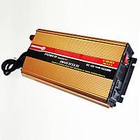 Инвертор преобразователь напряжения Powerone 1300W 12V 220V с зарядкой Gold