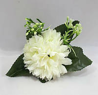 Праздничная хризантема -искусственный цветок(головка),цвет белый, фото 1