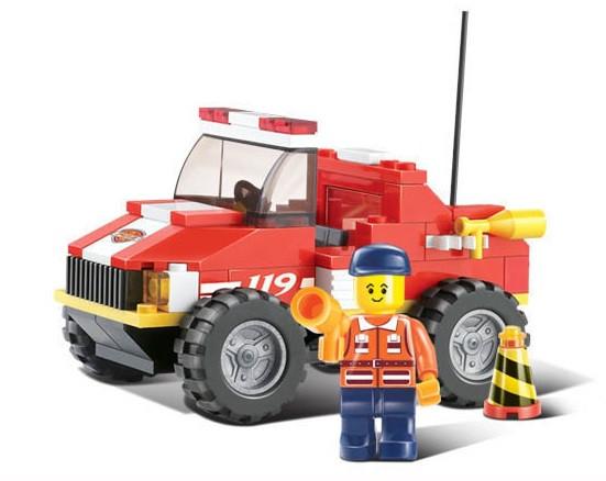 Конструктор SLUBAN Пожарные спасатели M38-B0217R, 118 деталей