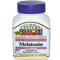 Мелатонин 3 мг 200 таб снотворное, улучшение качества сна адаптоген антиоксидант  21-й век US