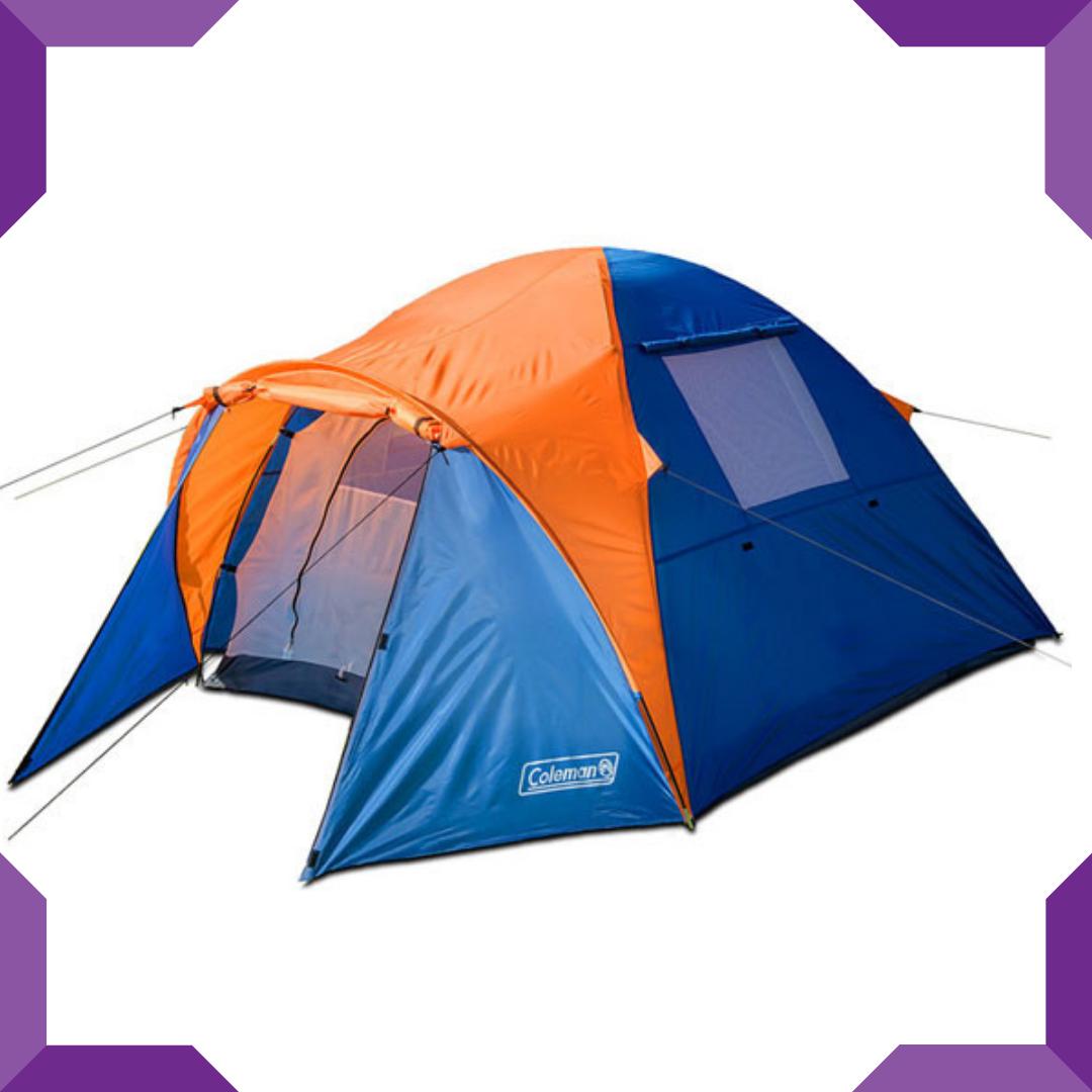 Палатка 3-х местная Coleman 1011,Сине-оранжевый