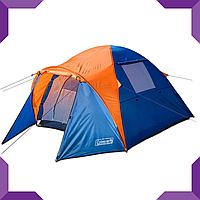 Палатка 3-х местная Coleman 1011,Сине-оранжевый, фото 1