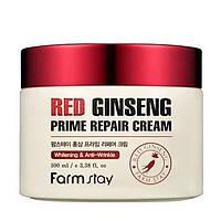 Восстанавливающий крем для лица с экстрактом красного женьшеня Farmstay Red Ginseng Prime Repair Cream 100 мл