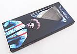 Чорні підтяжки Paolo Udini з бордовим візерунком, фото 4