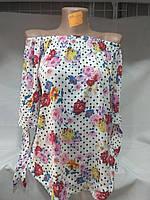 Женская блуза с открытыми плечами оптом s m l