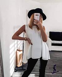 Свободная блуза- безрукавка