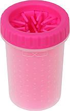 Стакан для мытья лап, лапомойка для собак Soft pet foot cleaner Pink