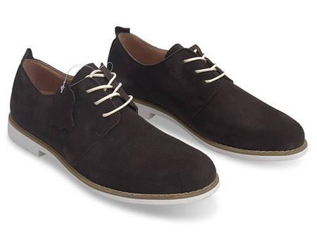 Мужские туфли коричневого цвета из натуральной замшы!