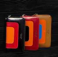Кожаный кошелек, клатч, натуральная кожа Las Fero