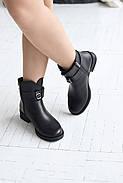 Черные ботинки с ремешком на лодыжке, фото 3