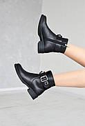 Черные ботинки с ремешком на лодыжке, фото 4