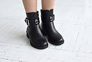 Черные ботинки с ремешком на лодыжке, фото 7