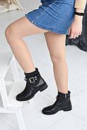 Черные ботинки с ремешком на лодыжке, фото 5