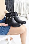 Черные ботинки с ремешком на лодыжке, фото 6
