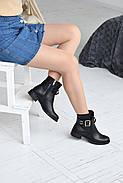 Черные ботинки с ремешком на лодыжке, фото 8