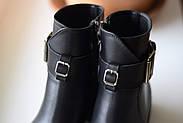 Черные ботинки с ремешком на лодыжке, фото 9