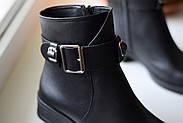Черные ботинки с ремешком на лодыжке, фото 10