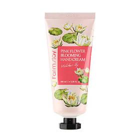 Восстанавливающий крем для рук с экстрактом лилии Farmstay Pink Flower Blooming Hand Cream 100 мл