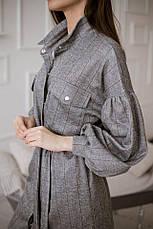 Клетчатое платье с поясом, фото 3