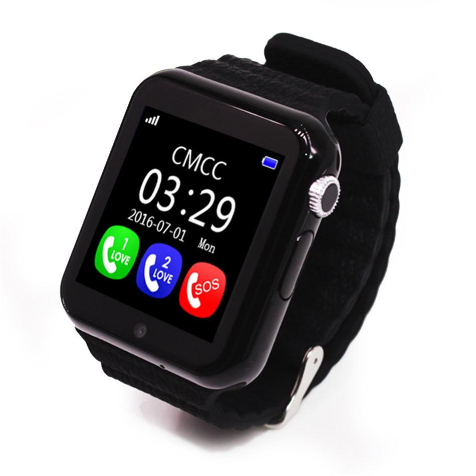 Детские Умные Смарт-Часы Baby Smart Watch V7K-Black Gps