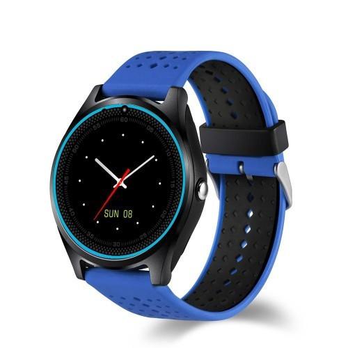 Умные Часы Smart V9 С Пульсометром Blue-Black