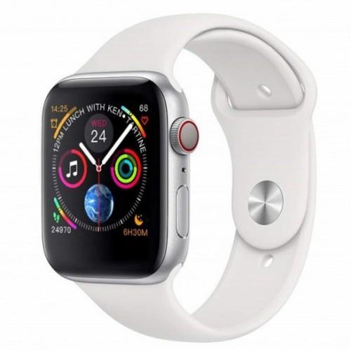 Умные Смарт Часы Supero Smart Watch W54 С Пульсометром Серебристо-Белый