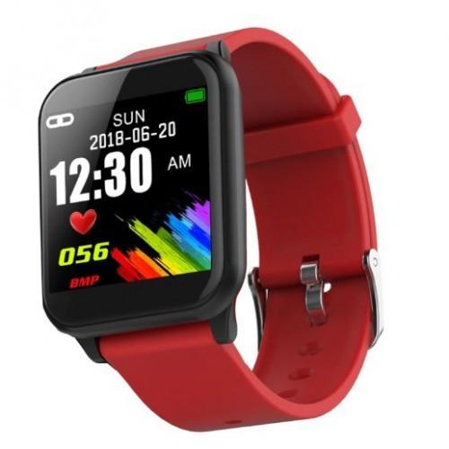 Умный Фитнес Браслет Supero Smart Band Z02 Тонометр Красный