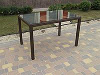 Стол плетенный прямоугольный садовый, фото 1