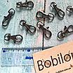 Комплект сумочной фурнитуры в цвете Черное серебро: цепочка с карабинами и магнитные кнопки, фото 2