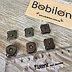 Комплект сумочной фурнитуры в цвете Черное серебро: цепочка с карабинами и магнитные кнопки, фото 4