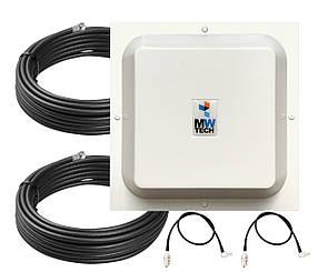 Антенна 3G 4G Arrow 1700-2700 МГц 2x15 dBi MIMO + кабель 2 шт + антенные переходники 530162, КОД: 1340466
