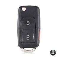 Корпус выкидного ключа Lada ВАЗ с заготовкой (2 кнопки+Panic+Логотип Lada)