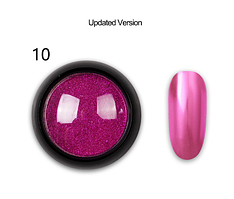 Зеркальная втирка для ногтей (маникюра) Born Queen №10 UV