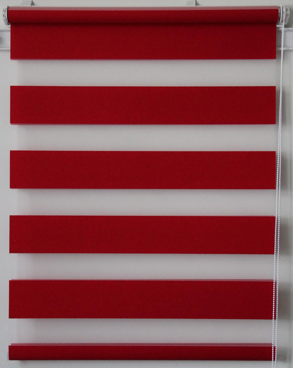 Готовые рулонные шторы Ткань Z-074 Красный