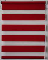 Готовые рулонные шторы Ткань Z-074 Красный 1000*1600