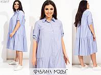 Платье женское свободного кроя (3 цвета) PY/-1019 - Синий, фото 1