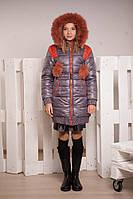 Зимнее стеганное пальто для девочки, размеры 34, 36, 38, 40. (арт.К-99)